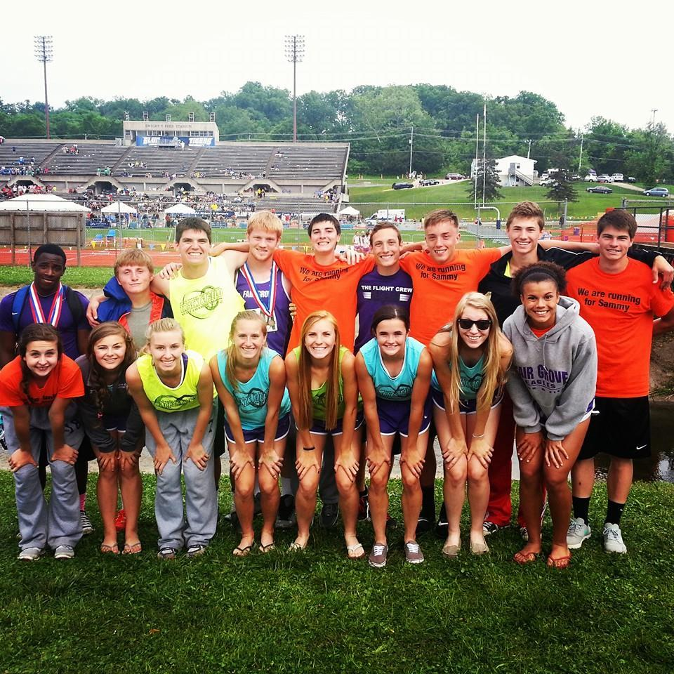 From left to right, back row: Rashawn Moore, Wyle Potter, Luke Ivey, Dalton Robinson, Zach Compton, Trevor Foster, Logan Beach, Joe Caudle, and Lyndon Kays. Front row: Victoria Fishback, Haley Stallings, Megan Wahlquist, Lindsey Padgett, Alyssah Orr, Jorden Stacey, Maegan Holland, and Gabby Washington.