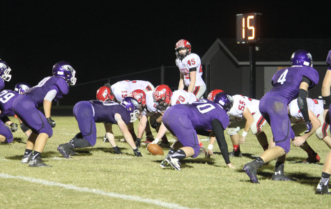 The Eagles on defense in their district game vs. Ash Grove.