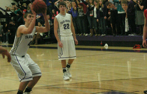 Zane McCurry shoots a free throw in a game against Pleasant Hope.