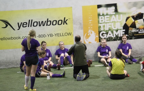 Lady Eagles Play Indoor Soccer Session to Prepare for Spring Season