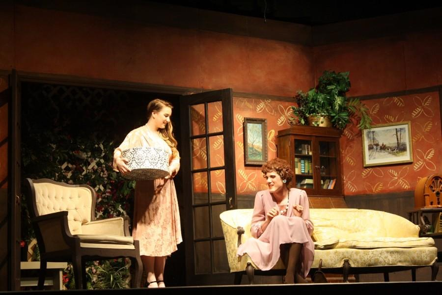 Chauncey Miller and Brent Shelton perform in Here Come the Brides play.