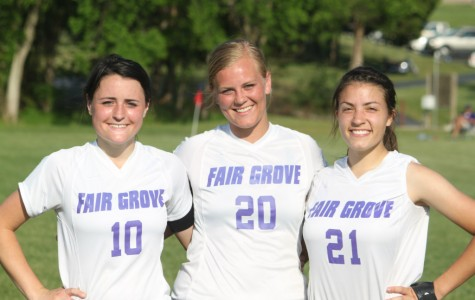 Lady Eagles Beat Monett on Soccer Senior Night