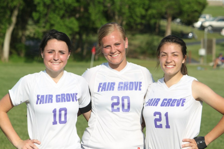 Pictured - Seniors Jordan Robertson, Katelyne Cloyd, and Claire Foster.