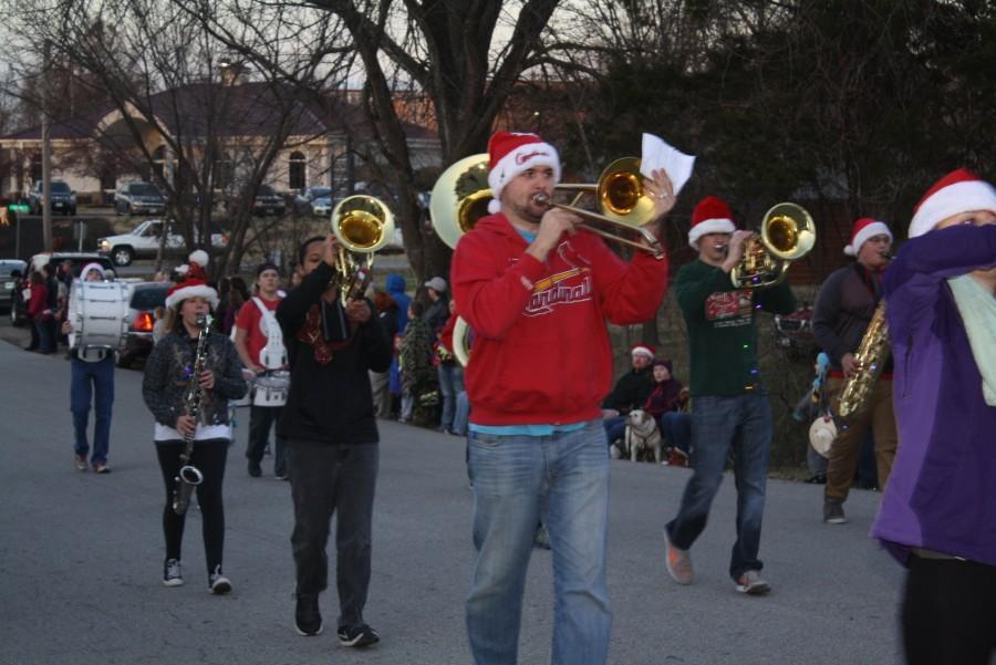 Band Performs Christmas Parade