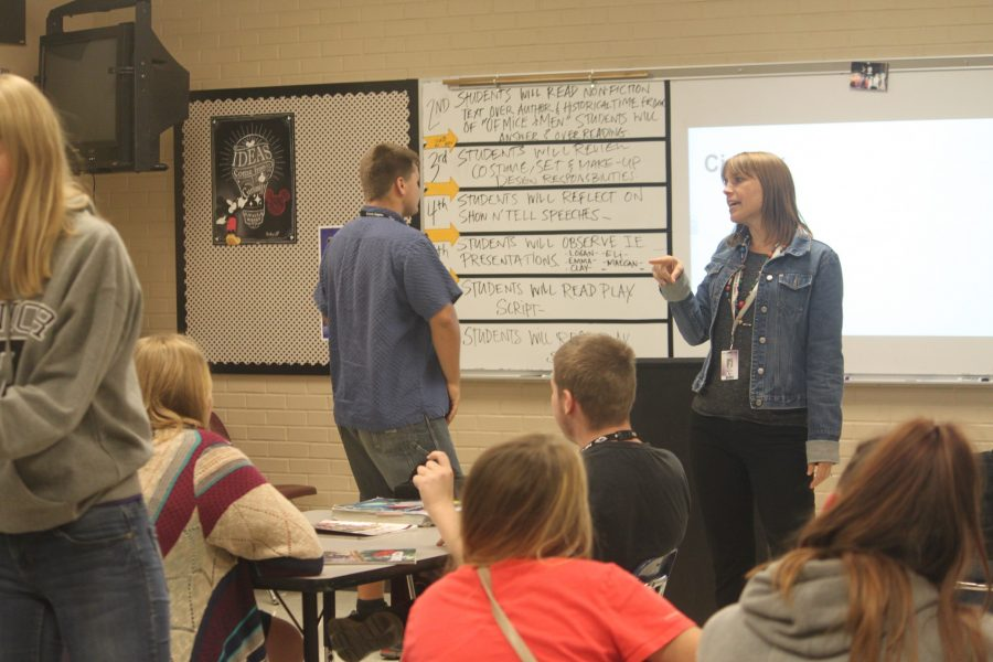 Mrs. Holland teaches one of her high school classes. PHOTO BY BRYSTOL BATES