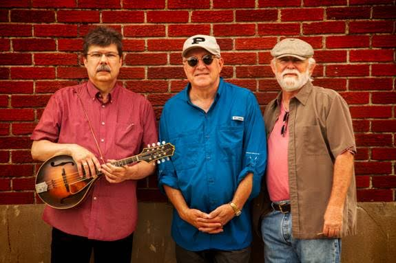 Randle Chowning, Larry Lee, and David Wilson posing before the show. PHOTO PROVIDED BY OZARK MOUNTAIN DAREDEVILS