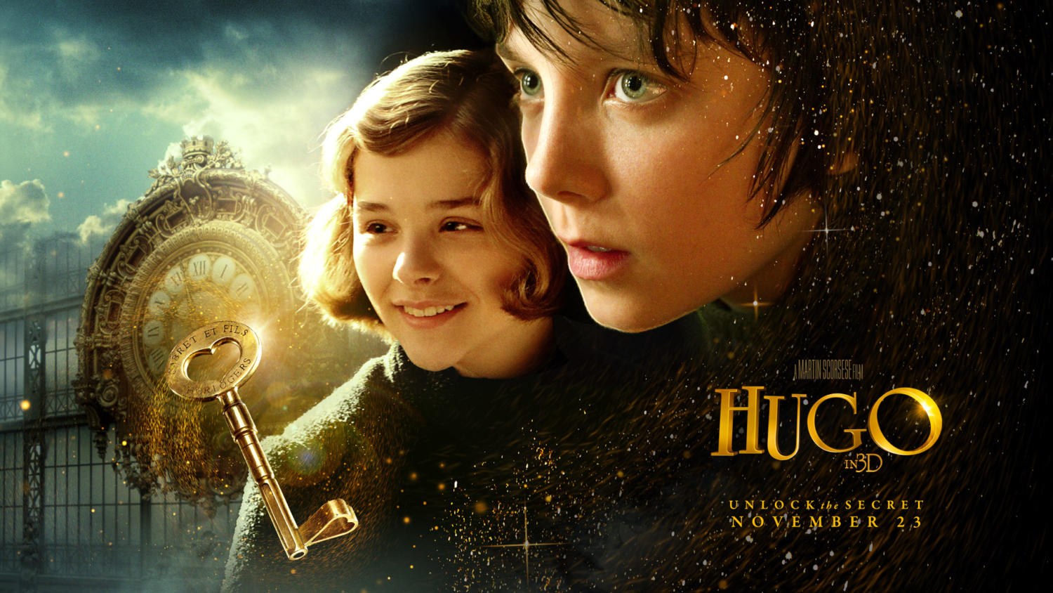 Main characters Hugo and Isabelle
