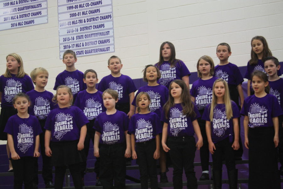 The Fair Grove Singing Eagles sing during their Thanksgiving Production