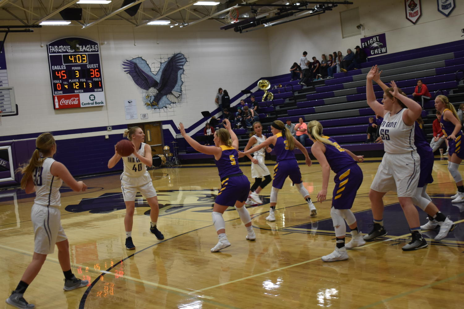 Alana Findley takes on the Monett defense