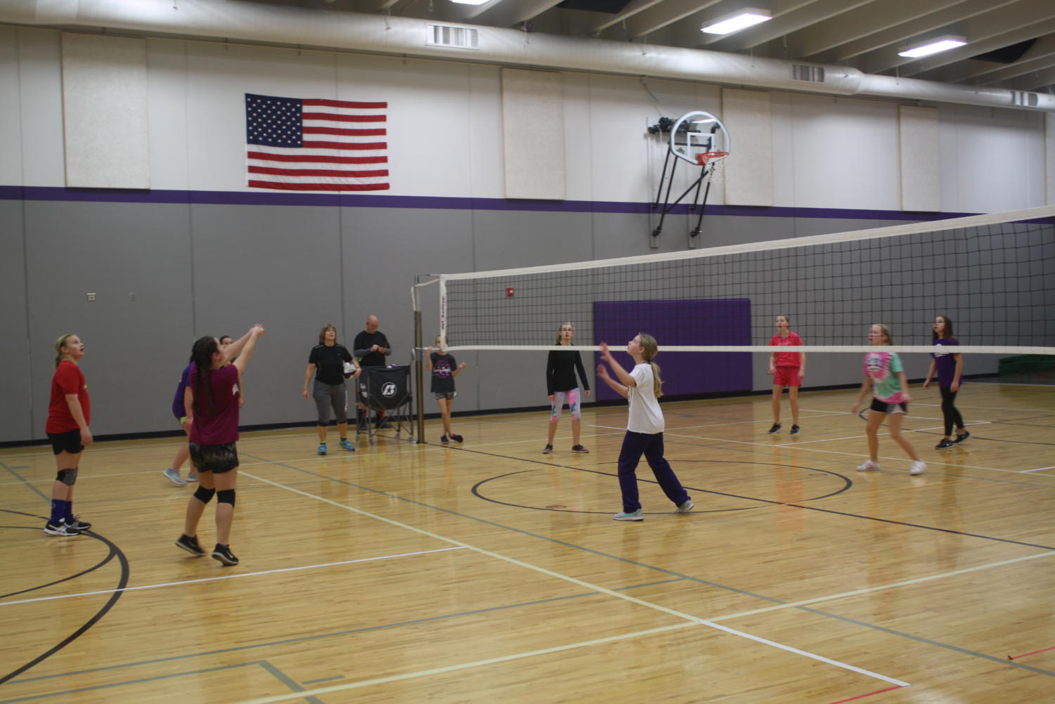 5th and 6th graders prepare for their volleyball future.
