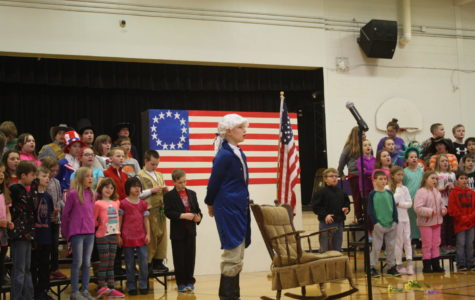 Fourth Graders Show their Stripes in Patriotic Music Program