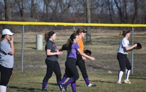 The Fair Grove Softball Team during their practice.