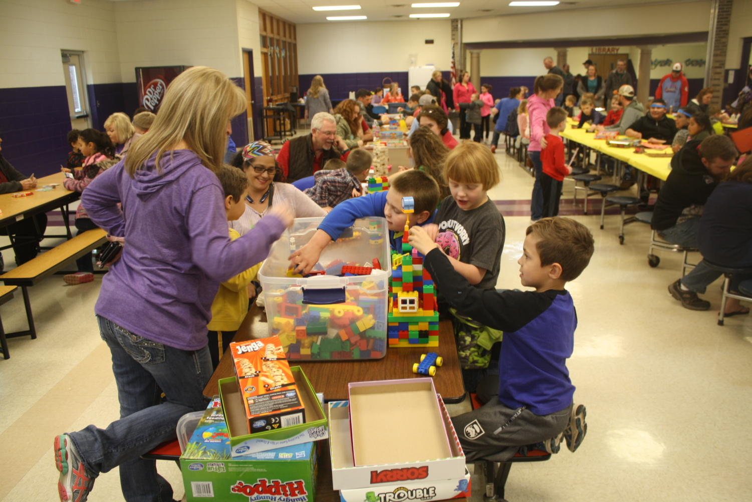 Students and parents alike enjoy Family Fun Night in the elementary