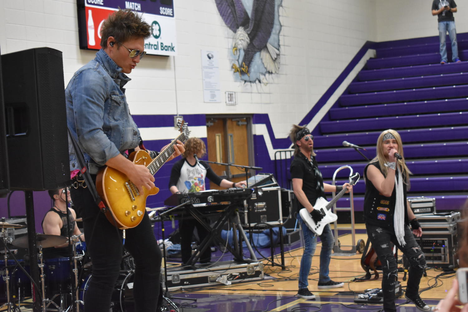 The band Members Only perform for Fair Grove Schools