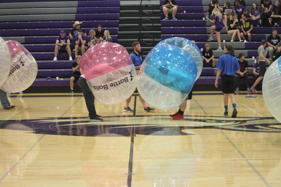 SADD members enjoy playing Bubble Ball during the kickoff.