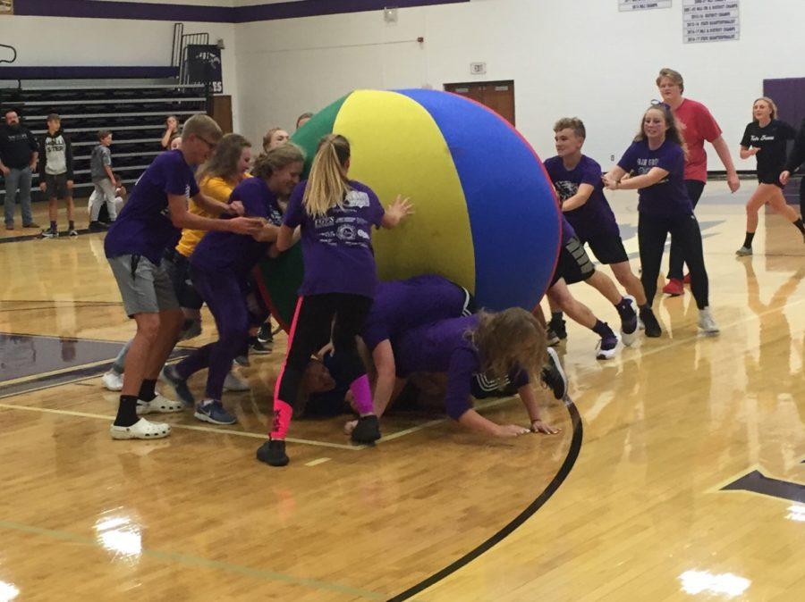Students enjoy playing Big Ball of Death