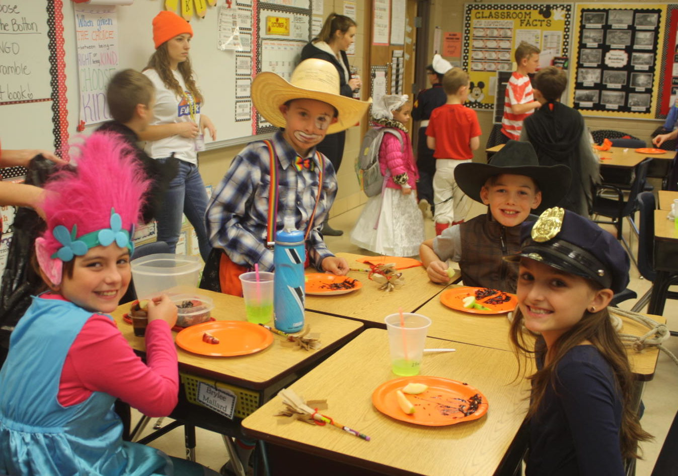 Mrs. McKeever's class enjoys their Halloween party