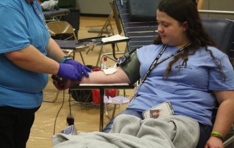 A Fair Grove student donates blood