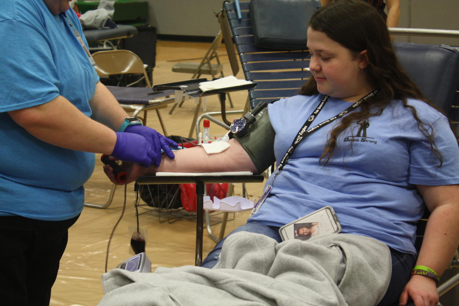 A Fair Grove student donates blood