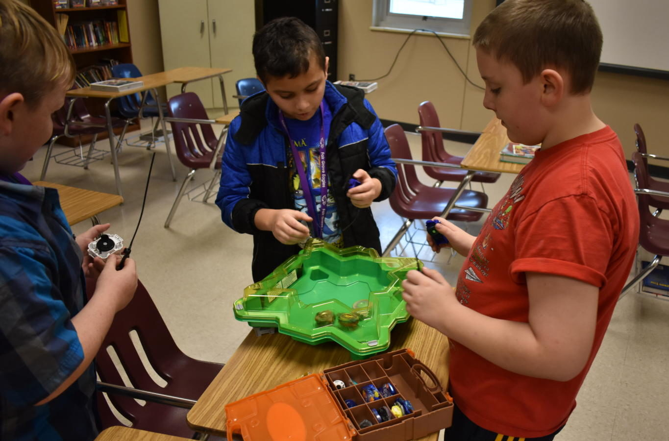 FGMS students participate in the new Beyblade Club.
