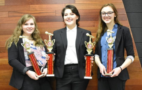 Three Speech Students Place in the Reed Springs Tournament