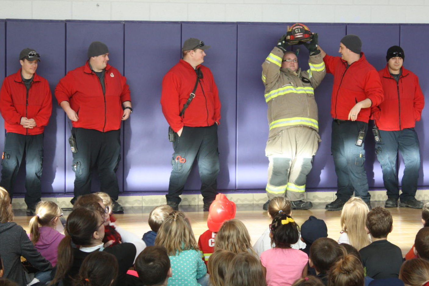 Local firefighters present at Careers on Wheels