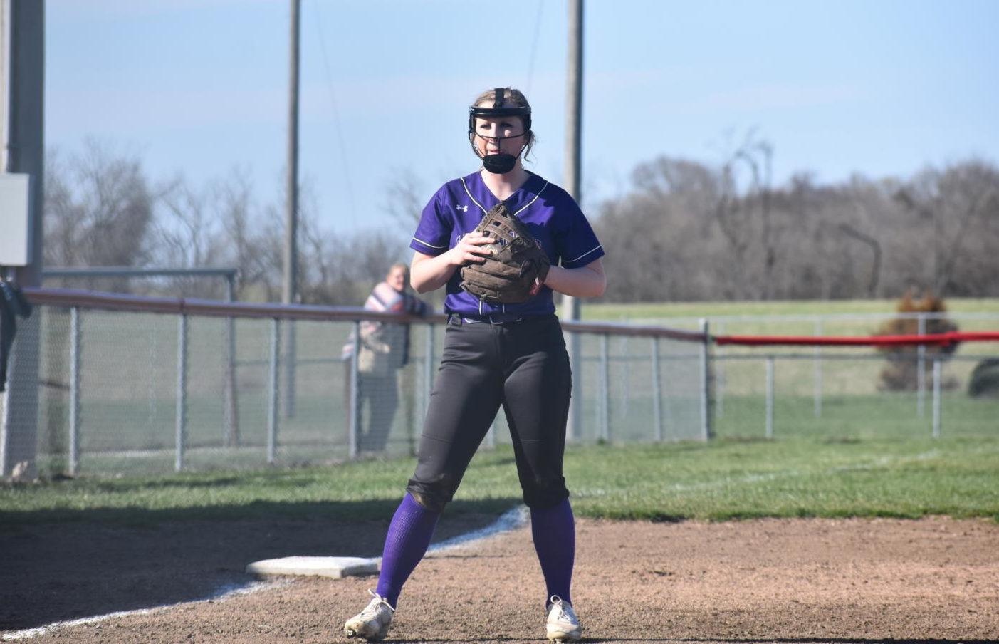 Ryah Icenhower [12] plays 3rd base