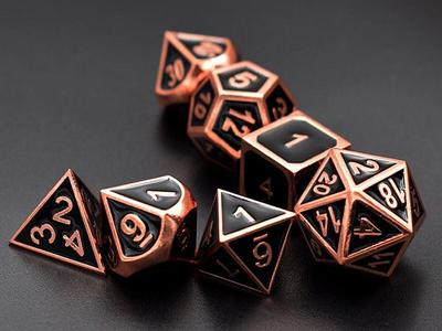 https://tedeeshop.com/products/dice-shiny-rose-gold-w-black-metal-dice-set-d4-d20