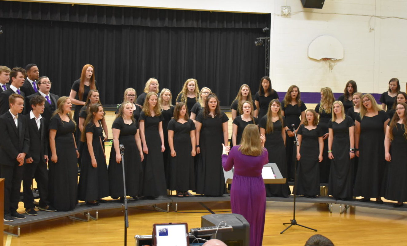 The high school choir performs at their Spring Concert.