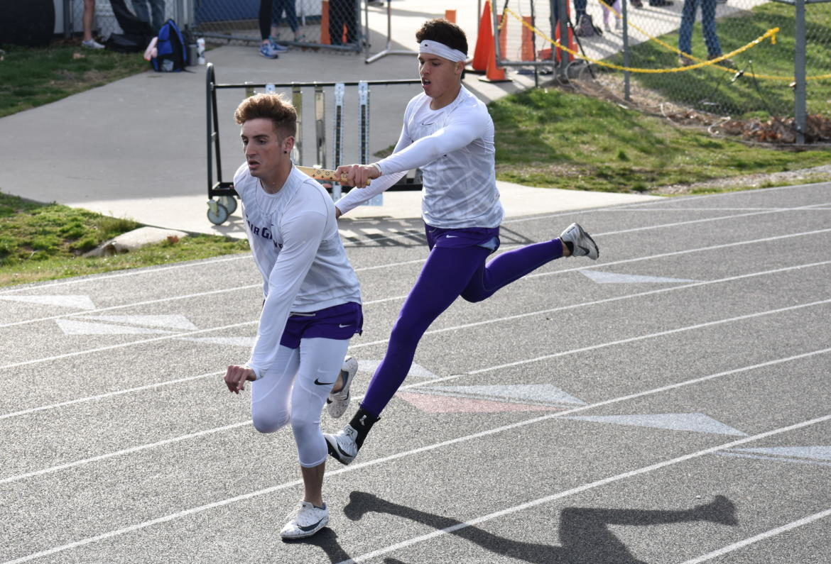 Dominick Hoskins and Caleb Dodd at the 5/4 track meet