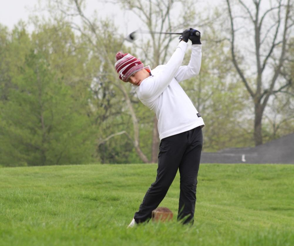 Shain Lahey [12] drives the ball. Photo provided by Anna Mallard.