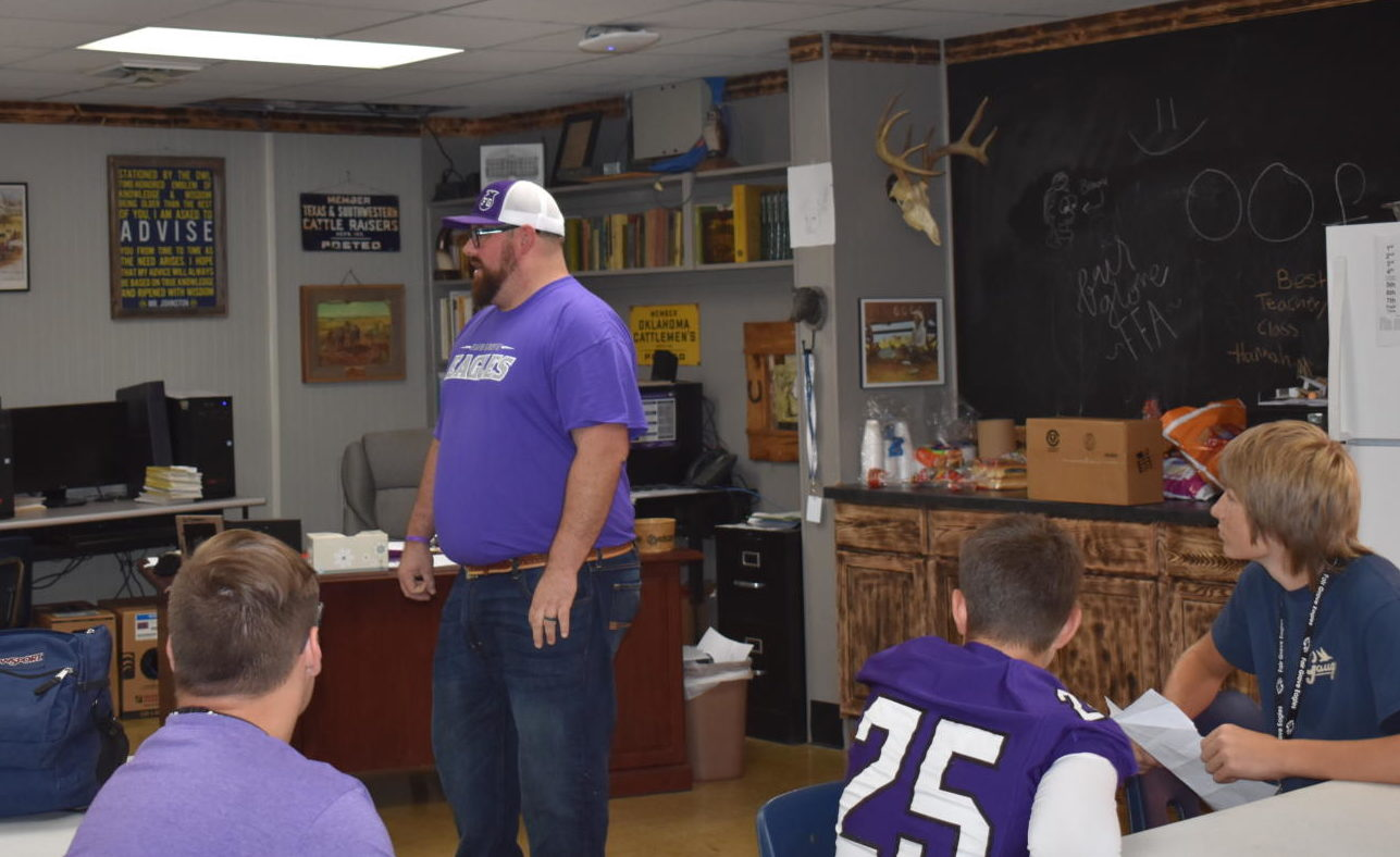 Mr. Johnston teaching his Agriculture classes
