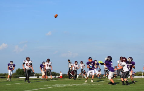 Fair Grove Middle School football team playing hard at a home game against Logan Rogersville