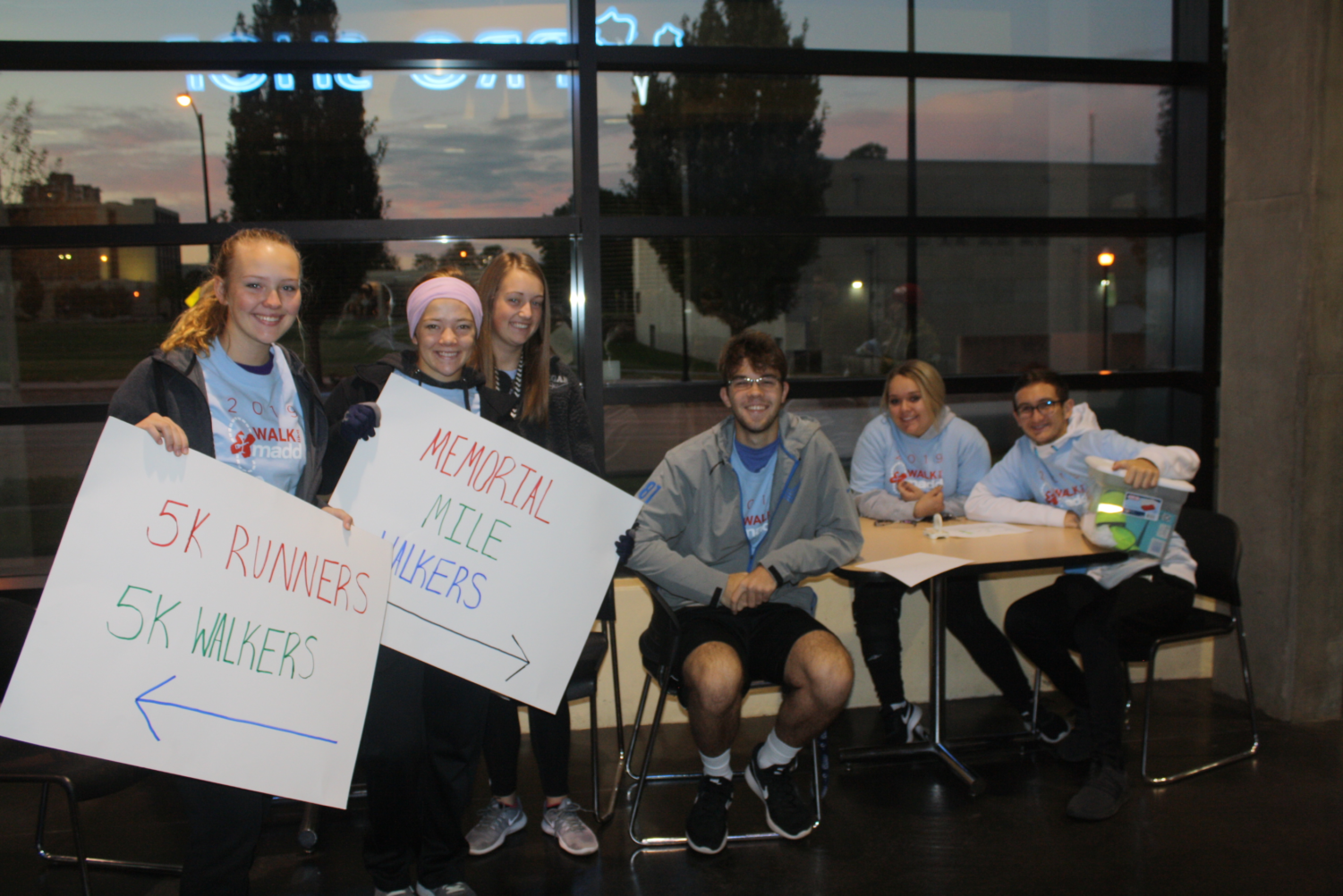 Fair Grove Students Maddie Walters, Leah Weaver, Brooke Heavin, Alex Ince, Haylee Wingo, and Eli Edwards helping at the MADD run