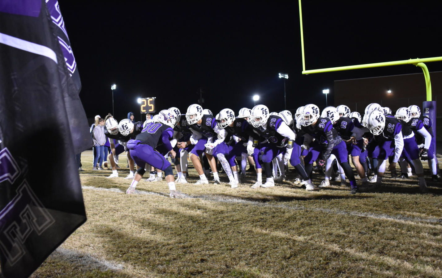 Fair Grove Football boys at the beginning of their November 1st district game.