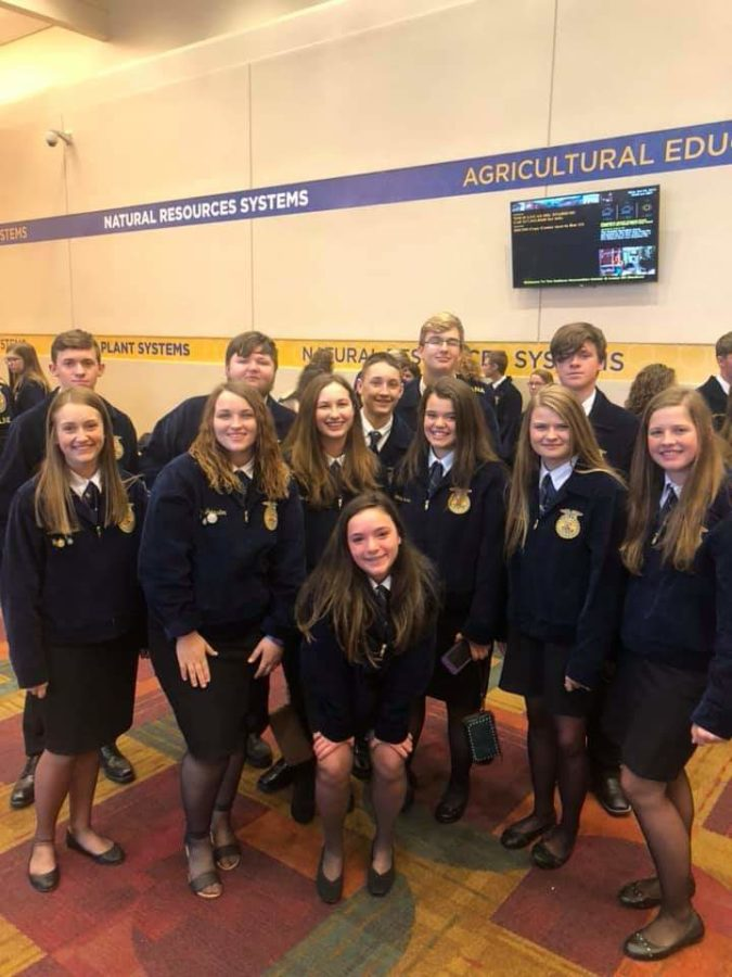 Students in FFA attending national convention