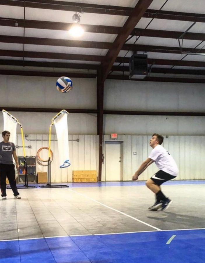 Cooper+Zumwalt+practicing+for+his+out+of+school+volleyball
