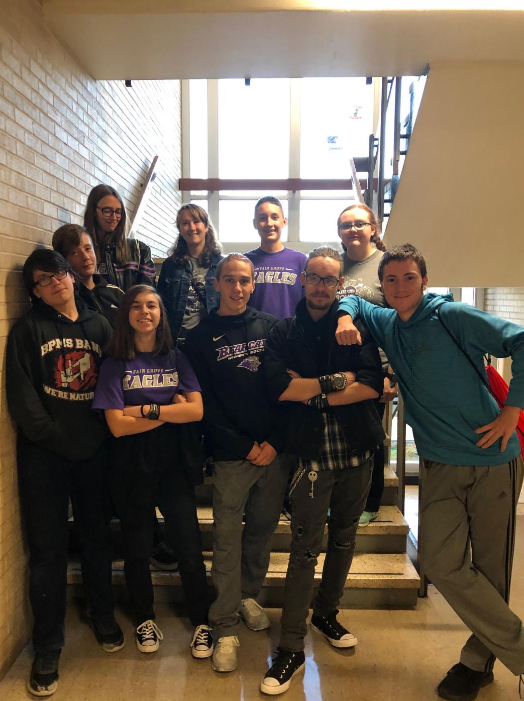 The Scholar bowl team posing as they celebrate their season