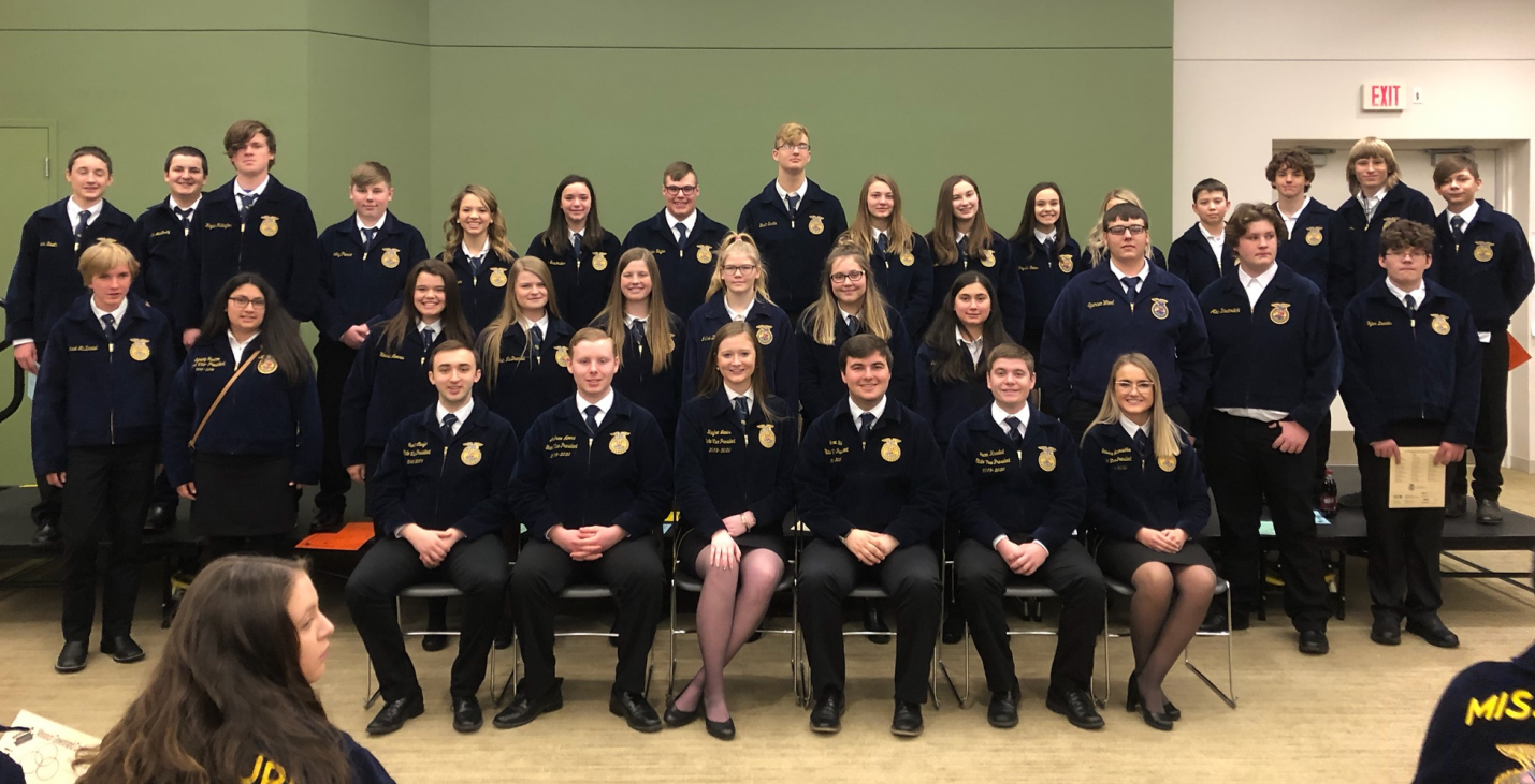 First year Fair Grove FFA members at the Greenhand conference