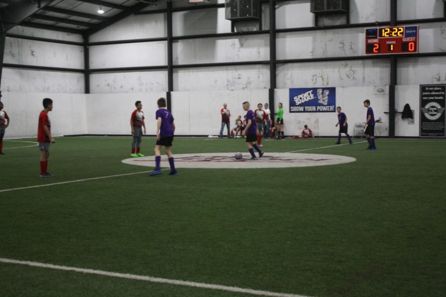 Fair Grove middle school indoor soccer