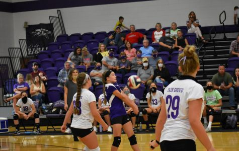 Middle School Volleyball Player During the September 21st Game