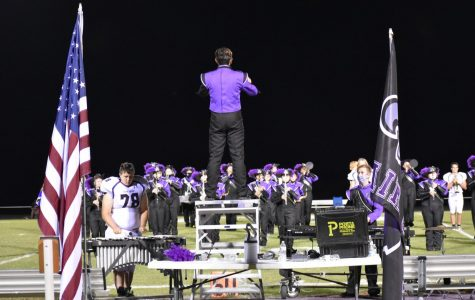 Photo of FGHS Marching Band at Sept. 9th football game.