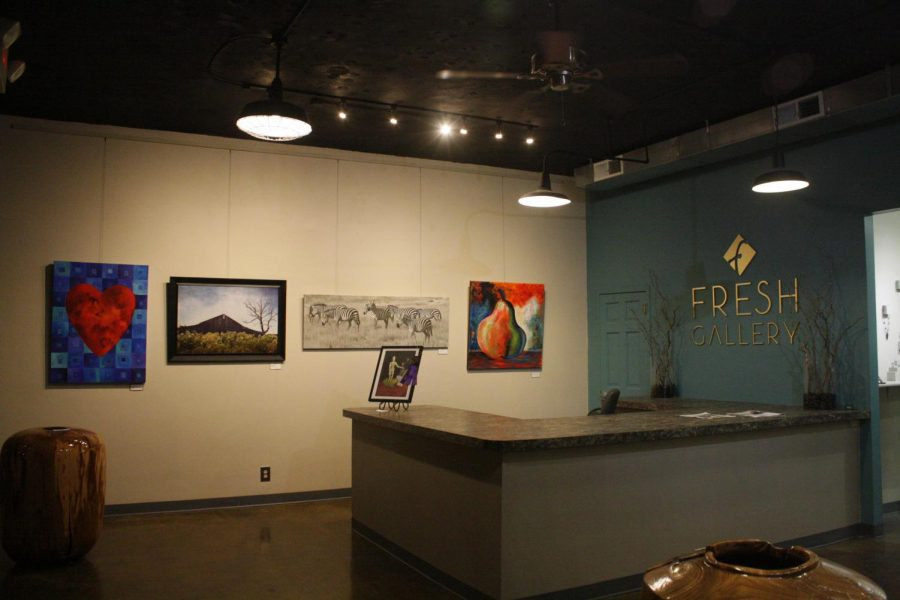 Photo of the Fresh Gallery's front room.