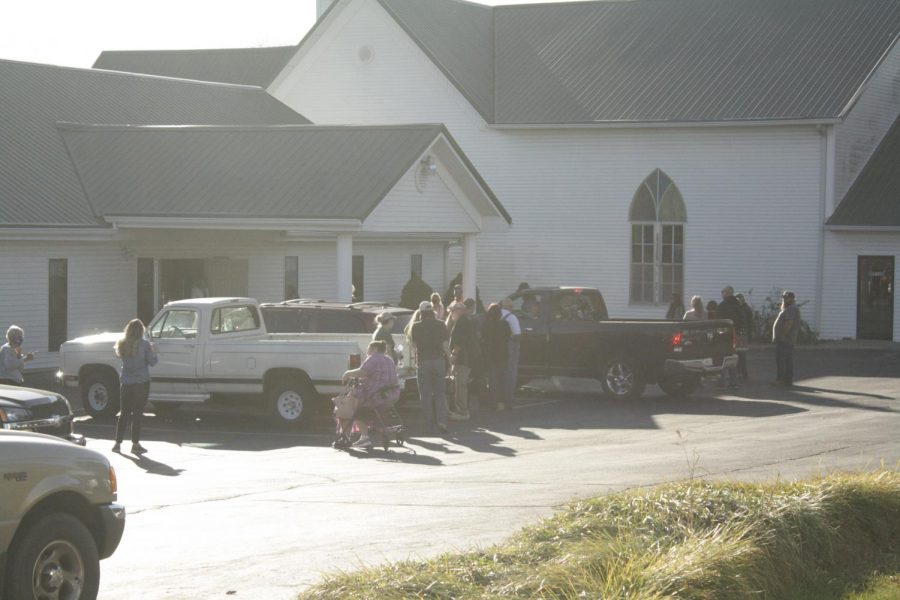 Photo of Fair Grove United Methodist Church, where the Fair Grove polling booth is located.