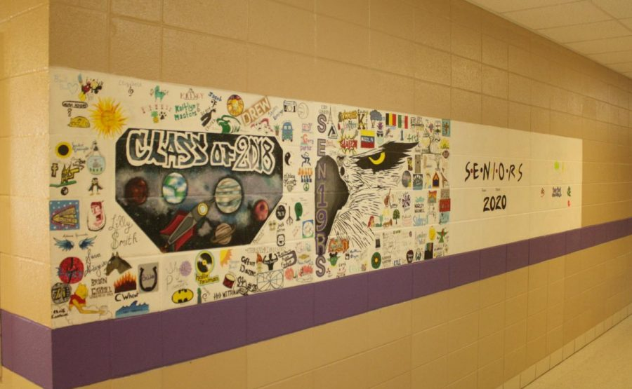 Photo of senior murals in  Fair Grove High School