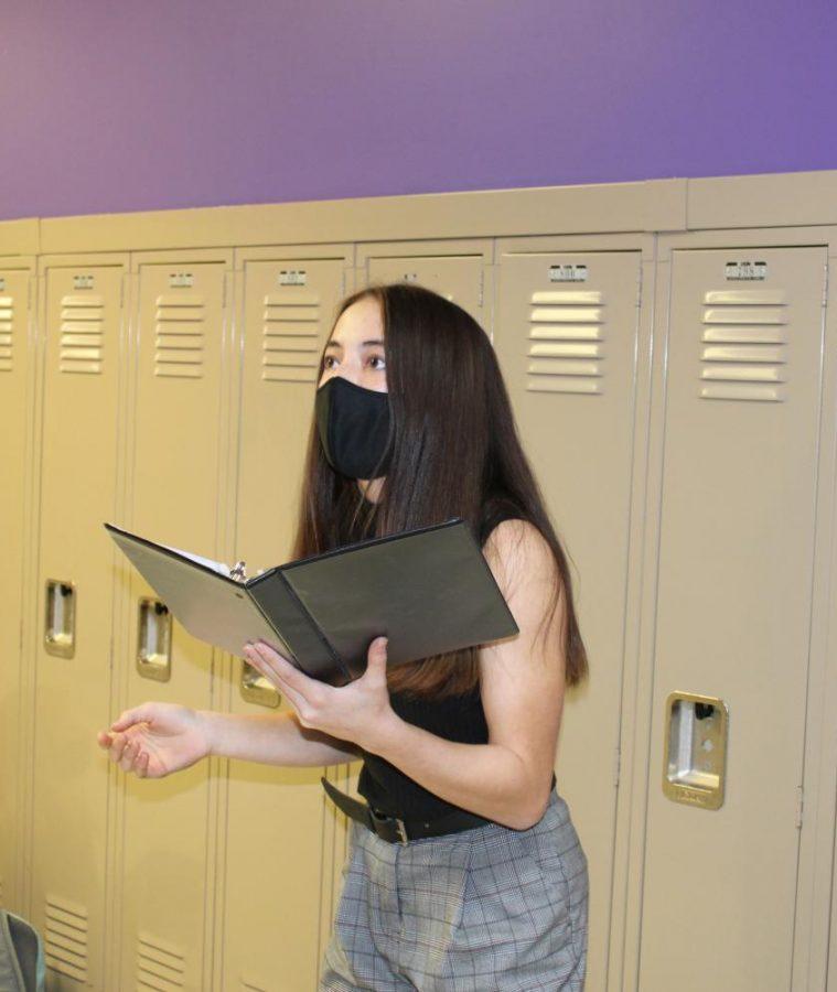 Stephanie Dunham preparing for virtual speech competition.