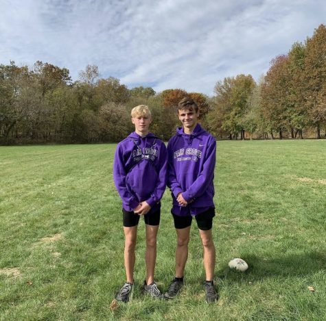 Luke Buescher and Liam Draper at the District meet.