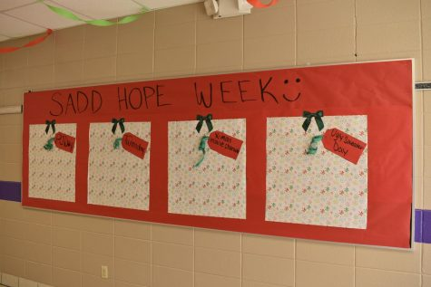 S.A.D.D. bulletin board in FGHS