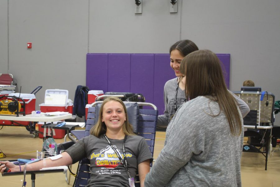 2019 Fair Grove Seniors donating blood (This is a photo from last year,  pre-Covid).
