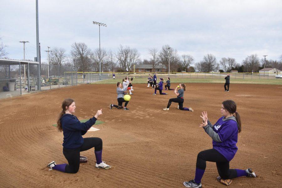 A Fair Grove 2020 softball practice.